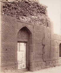 Tatta, Karachi District, Sindh. Isa Khan's Tomb, from inside entrance gateway.